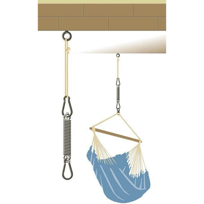 how to hang a hanging chair from a beam
