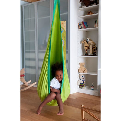 Green hanging hammock chair swing