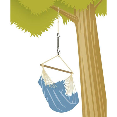 how to hang a hanging chair from a tree