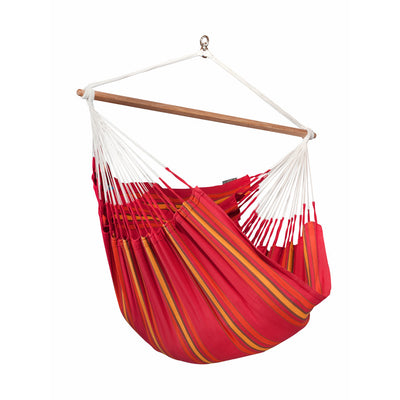 red hanging chair