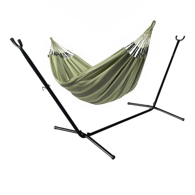 Double Hammock and Metal Hammock Stand