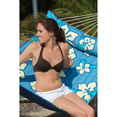 Blue flower hammock double size