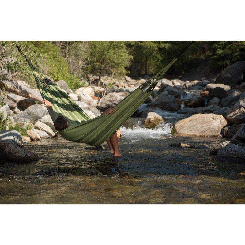 double outdoor green hammock