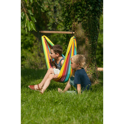 Cotton Chair Hammock for Children - Rainbow Colour