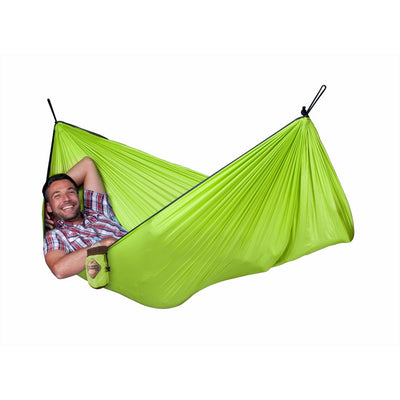Single parachute silk travel hammocks