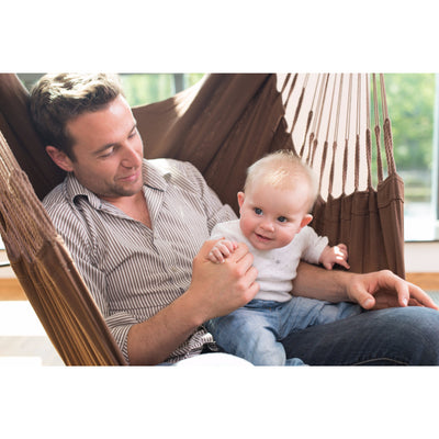 hammock man and baby