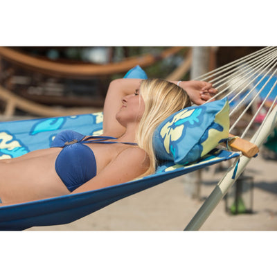 Double size bar hammock with pillow