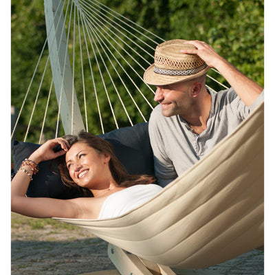 couple in large north american style hammock