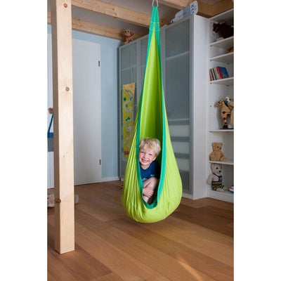 green swing hanging nest
