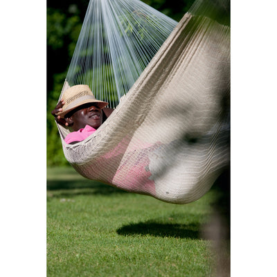 White natural cotton mexican hammock