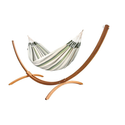 Wooden Arc Hammock Stand and Family Size Hammock