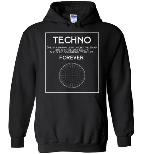 TechnoForever - Hoodie - Techno Is The Answer