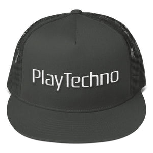 Play Techno - Mesh Back Snapback - Techno Is The Answer