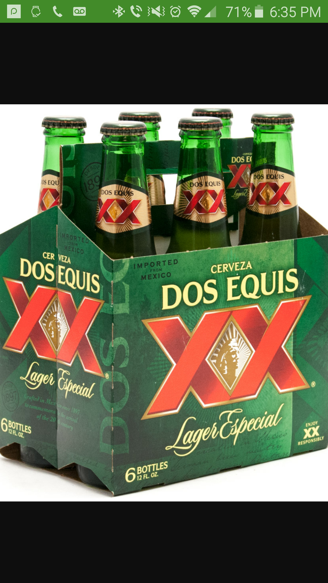 Dos Equis XX Lager Especial 6PK Bottles