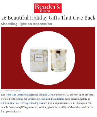 Hope Scented Candle featured by ReadersDigest.com