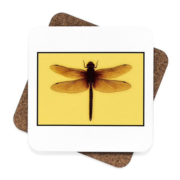 Square Hardboard Dragonfly Coaster Set - 4pcs