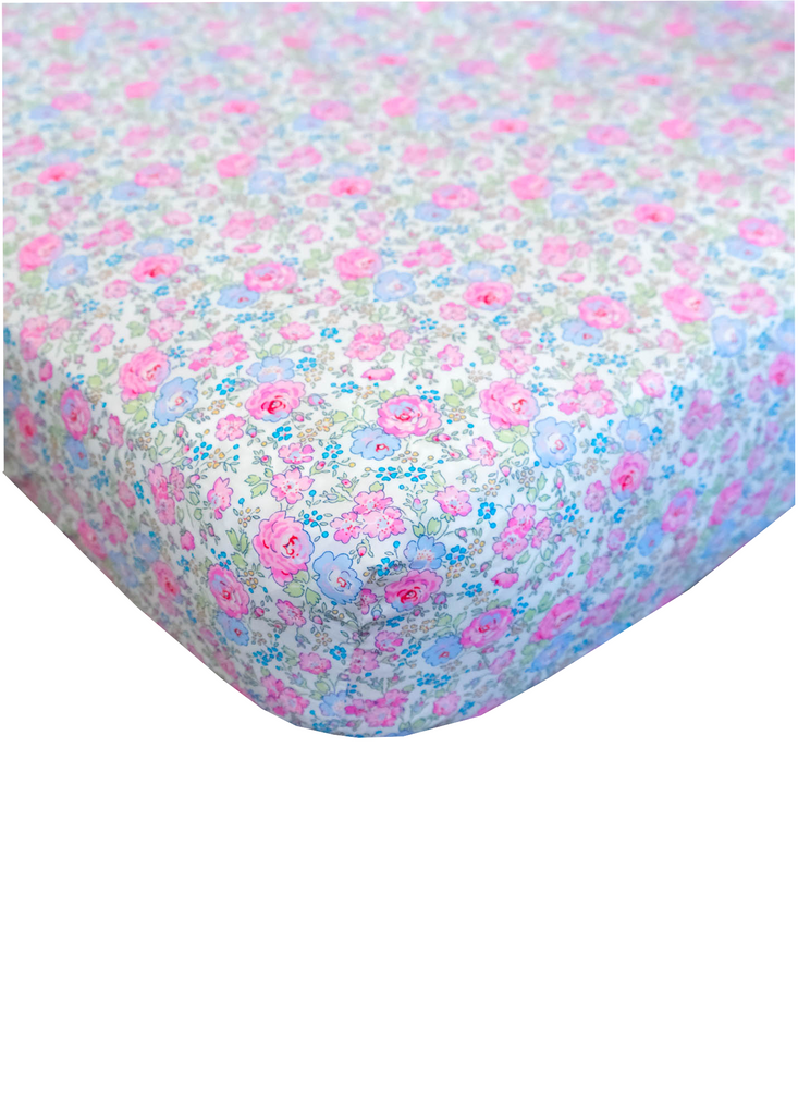 Pastel Flower Liberty Crib Sheet