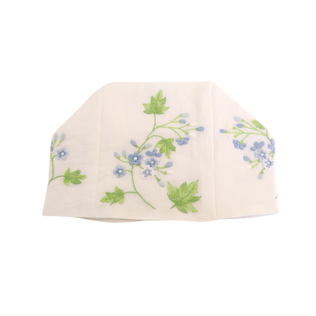 Embroidered Tissue Box Cover