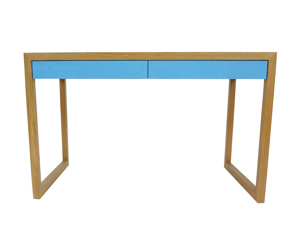 Blue Natural Oak Desk