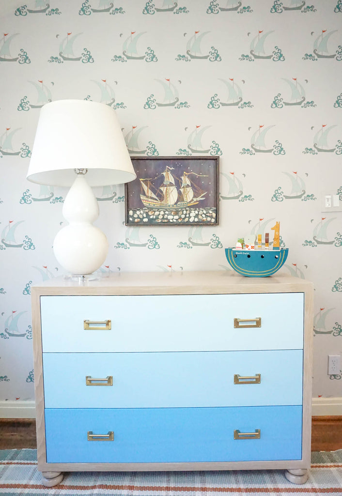 Blue Paint Deck Dresser