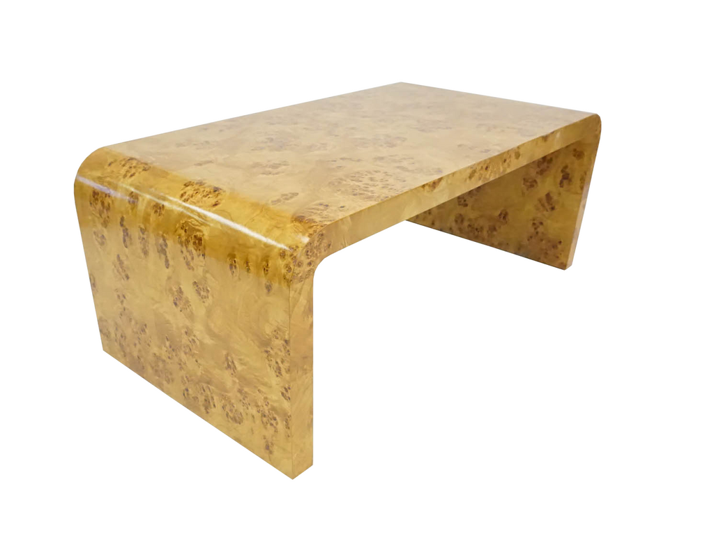 Burl Wood Waterfall Coffee Table