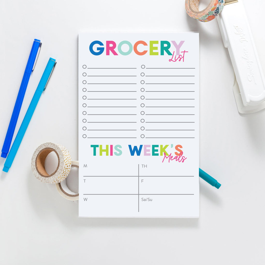 Grocery List/Meal Planning Notepad