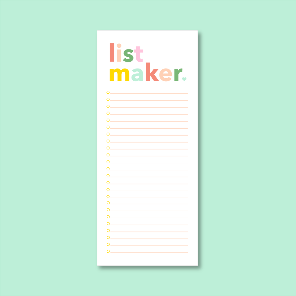 List Maker Notepad