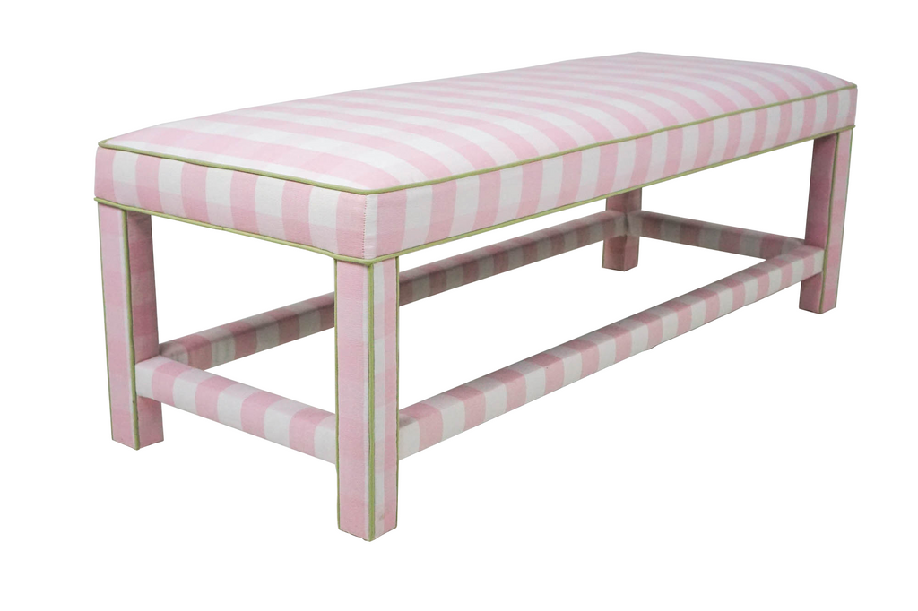 Pink Gingham Bench