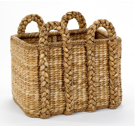 Large Rectangular Rush Baskets by Mainly Baskets