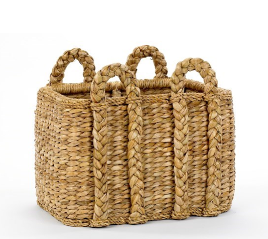 Rectangular Rush Basket by Mainly Baskets