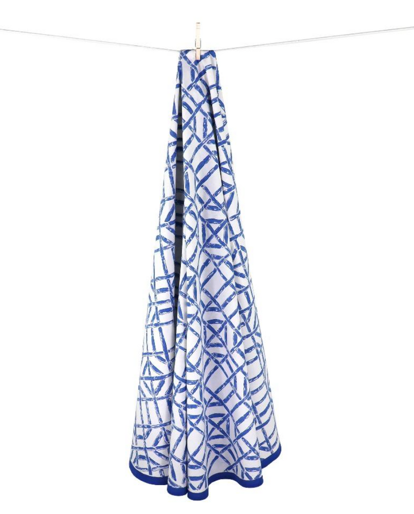 Blue Bamboo Tablecloth - 60x120