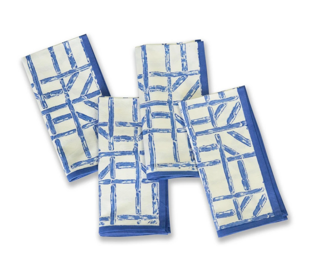 Blue Bamboo Napkin- Set of 4
