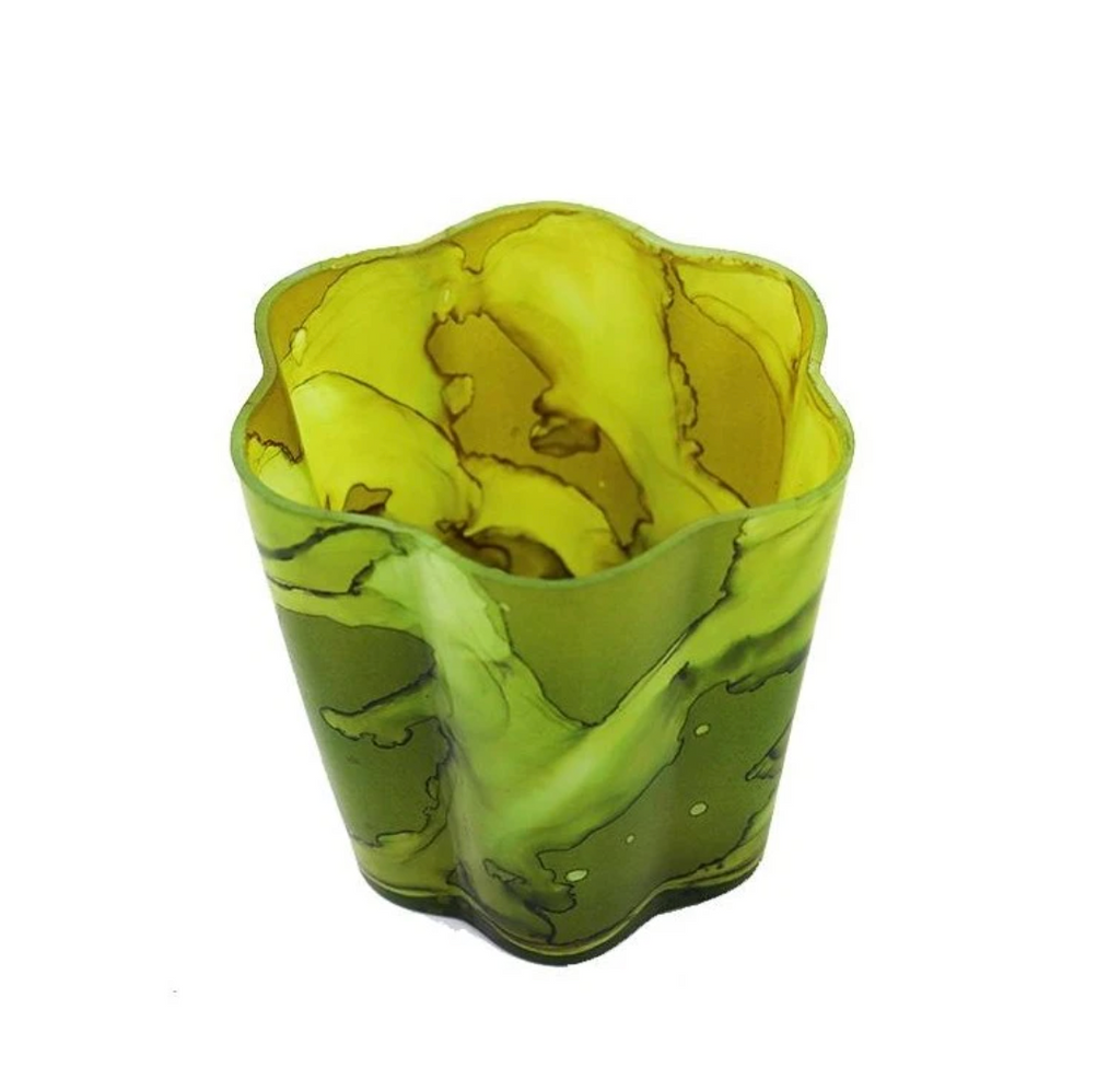 Fern Large Petal Votive- Set of 4