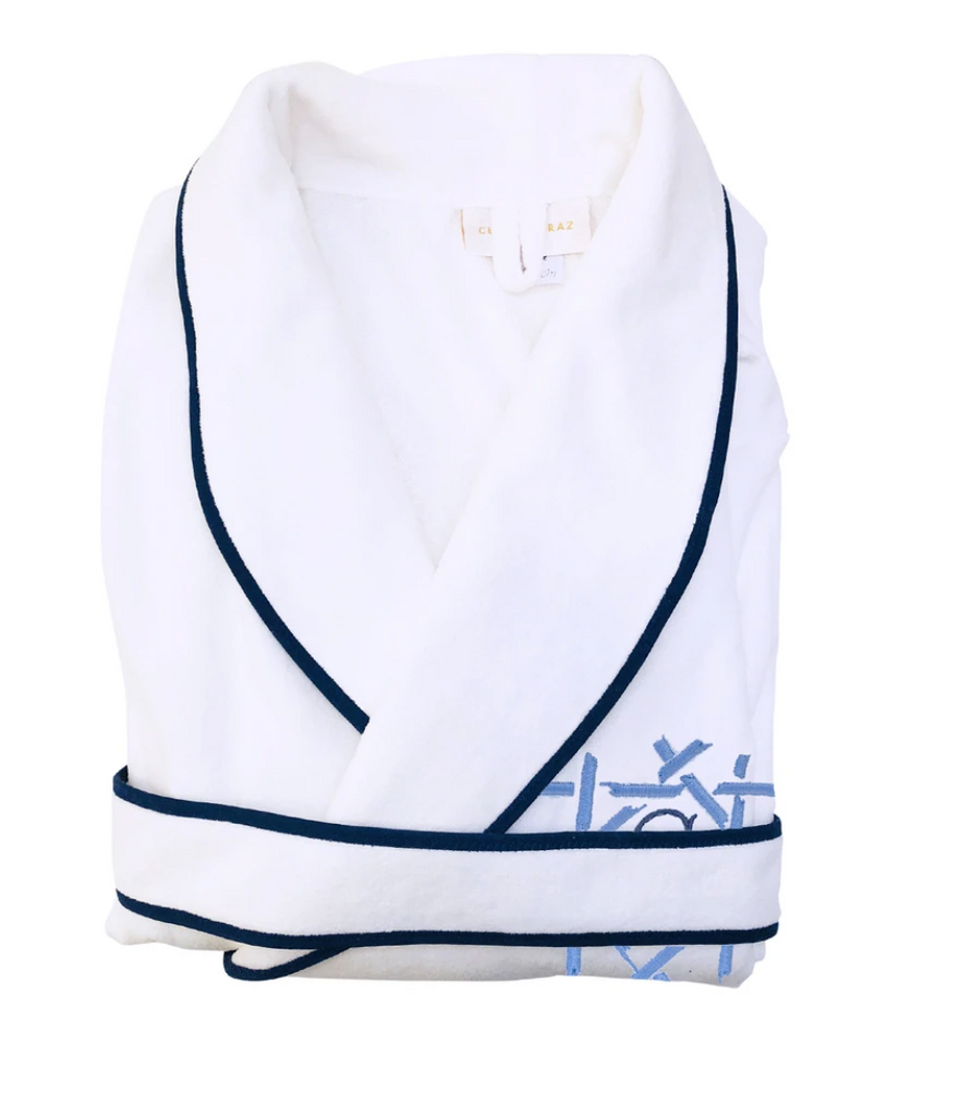 Monogrammed Adult Terry Bathrobe