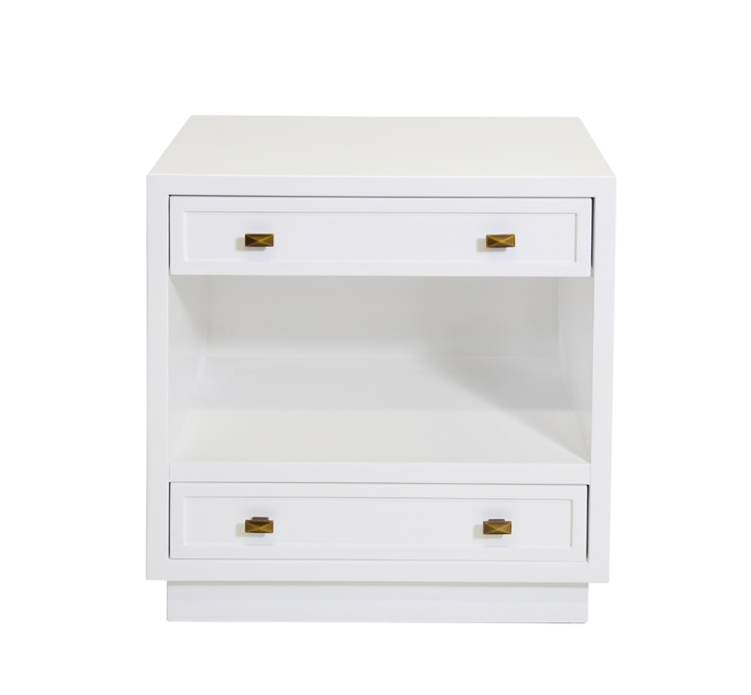 White Lacquer Nightstand