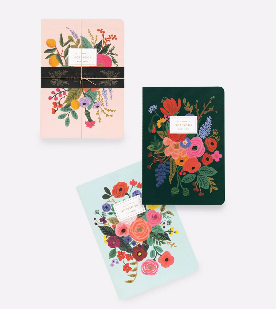 Set of 3 Garden Party Notebook