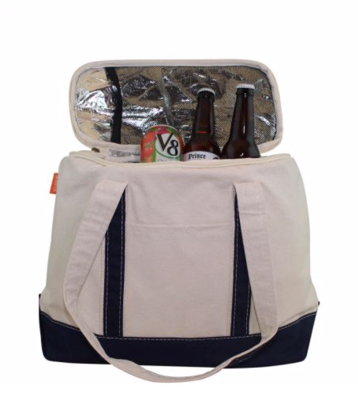 Canvas Boat Tote Cooler