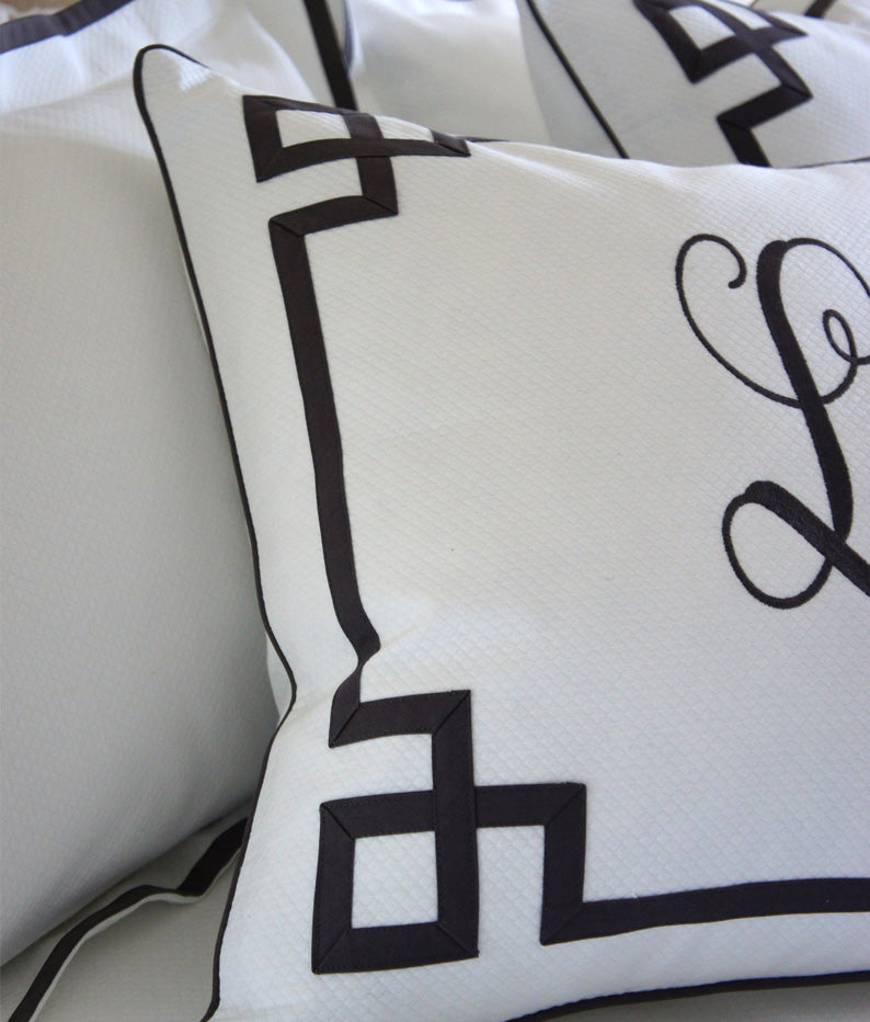 Custom Corner Detail Diamond Pique Bedding