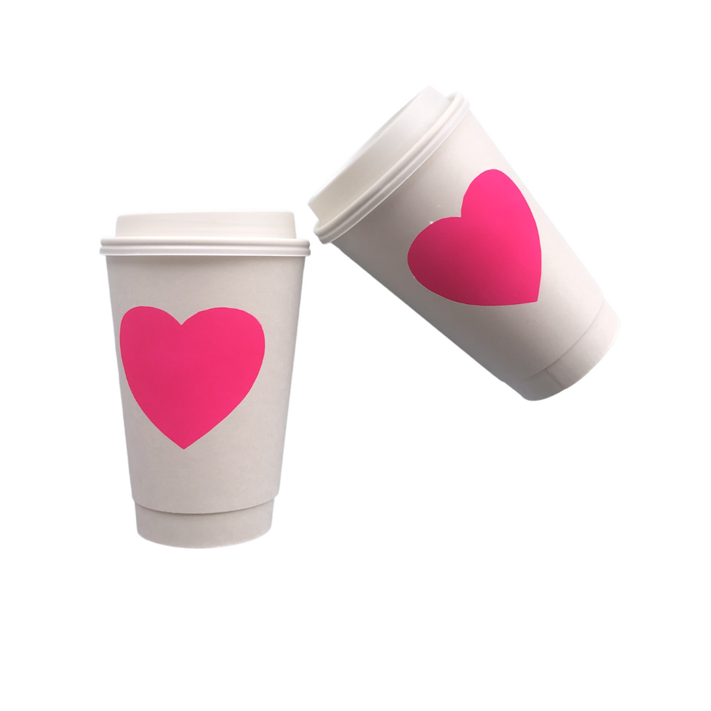 Heart Hot Cups