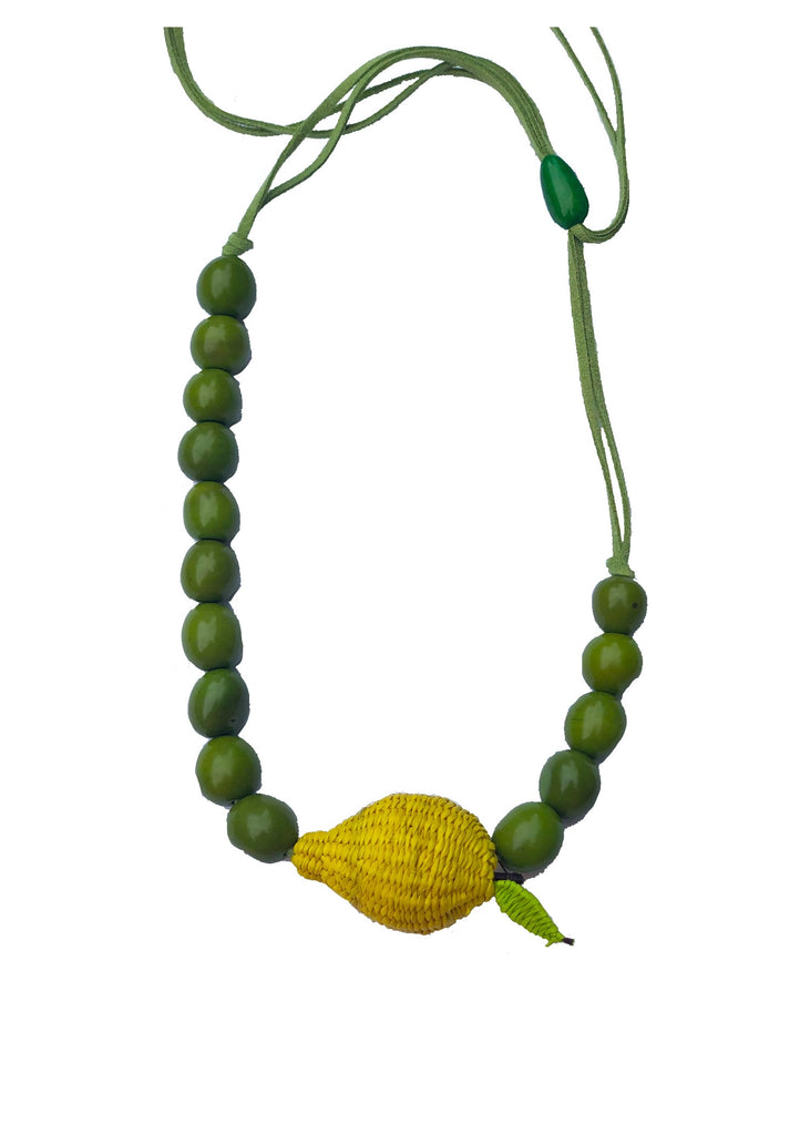 Lemon Beaded Necklace