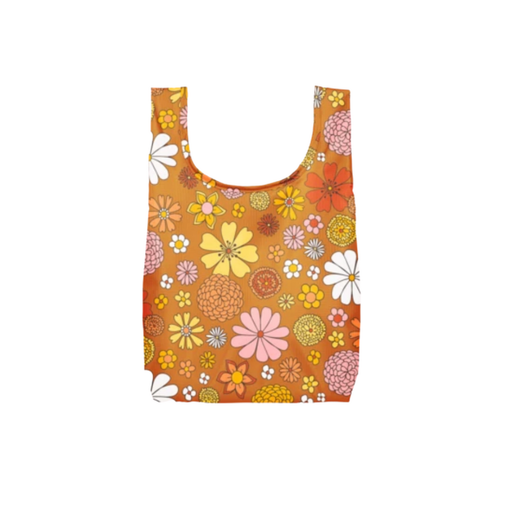 Reusable Orange Flower Bag