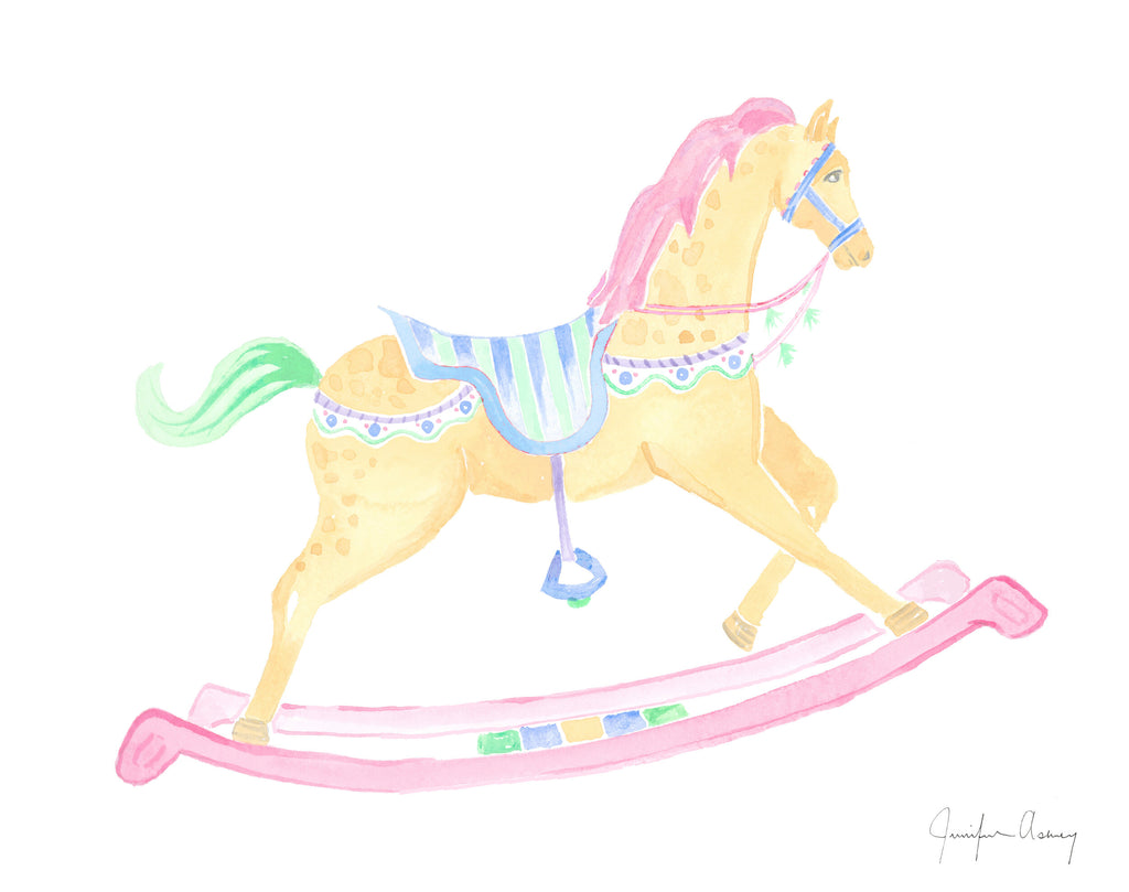 Yellow Rocking Horse Print
