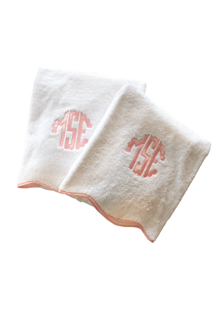 Scallop Towels and Mat