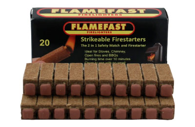 Strikeable firestarters