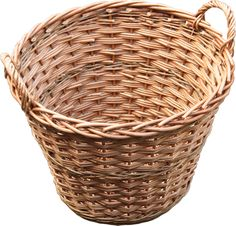 Buff Willow Tall Log Basket with Lining 23096