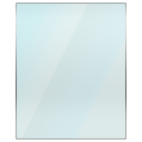 Rectangular glass hearthplate