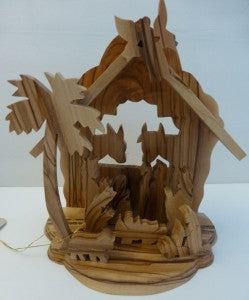 #218, 6 1/4 inches 1-piece nativity with animals $28.00