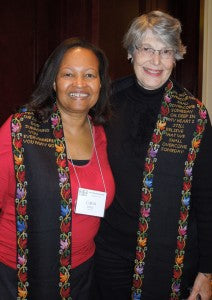 Carol Jones and Ellen Vallenga