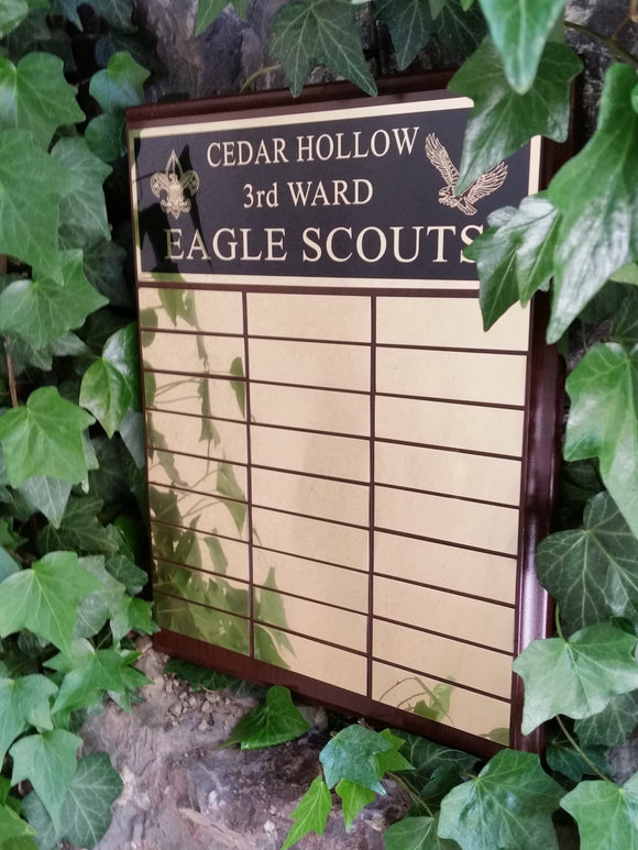 LDS Eagle/YM/YW Ward Perpetual Recognition Plaques