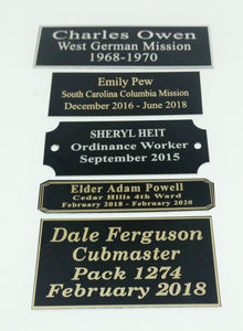 Plates for Plaques